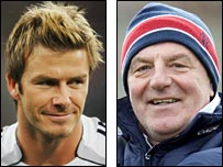 David Beckham and Walter Smith