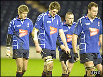 Border Reivers players show their disappointment