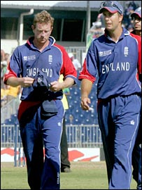 Paul Collingwood and Michael Vaughan