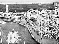 A view of the former amusement park seen from a water shute (From Image  of Wales, Rhyl, courtesy of Tempus Publishers)