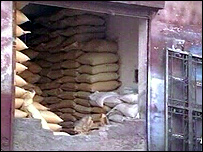 bags of ammonium nitrate