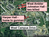 Map of Virginia Tech