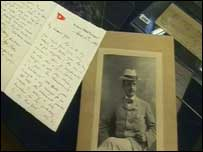 Letter and a photograph of Alfred Rowe