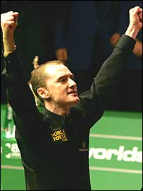 Graeme Dott celebrates his World Championship victory