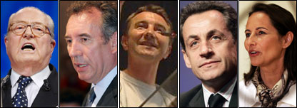 Five of the 12 candidates for the French presidency