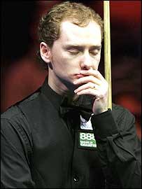 Graeme Dott during his defeat to Stephen Lee at the Masters