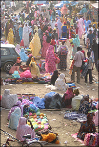The market in Nouakchott