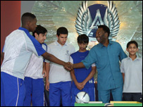 Pele with Aspire students
