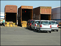 Hyundai cars ready for shipment