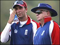 Michael Vaughan and Duncan Fletcher