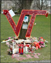 A memorial on the grounds of Virginia Tech