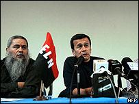 Dirigentes del ELN en La Habana el pasado 16 de marzo.