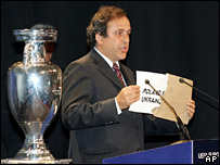 Michel Platini reveals Poland and Ukraine will host Euro 2012