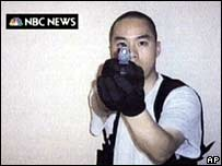 Picture of Cho Seung-hui that he sent to NBC News