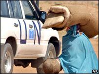 Vehículo de la ONU en Sudán