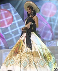 Rosa Maria Ojeda wearing the controversial dress
