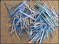 q-tip rubbish on beaches