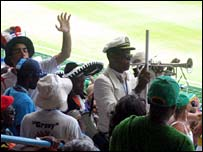 Music being played at World Cup cricket match