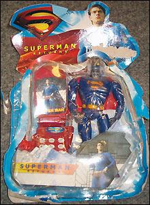Counterfeit superman toy