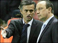 Jose Mourinho (left) and Rafael Benitez