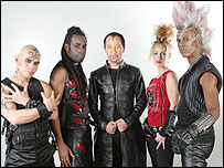 Switzerland's DJ Bobo (centre)