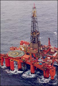 Floating oil exploration rig