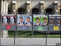 Avisos publicitarios de los candidatos