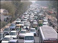 One of India's many congested roads