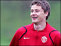 Manchester United striker Ole Gunnar Solskjaer