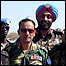 Gen Fazle Elahi Akbar of Bangladesh (foreground) with his UN troops in Sudan (image by permission of Gen Akbar)