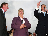 L to R - Lord Trimble, Annabel Goldie and David Cameron