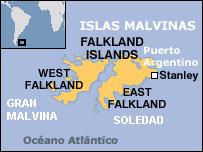 Mapa de las islas