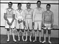 Cambridge University's squash team in 1934