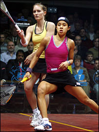 Natalie Grinham and Nicol David
