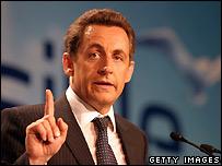 Centre-right UMP candidate Nicolas Sarkozy