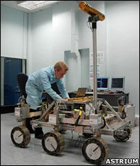 ExoMars testbed rover (Astrium)