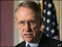 Líder de la mayoría demócrata en el Senado, Harry Reid