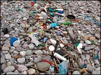 Litter on beach [Pic: Kent Wildlife Trust]