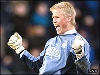 Falkirk goalkeeper Kasper Schmeichel