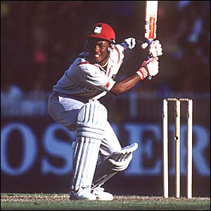 Brian Lara in action