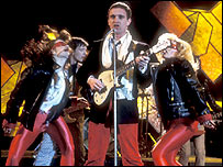 Chris Difford from Squeeze performing on Top of the Pops in 1979