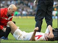 Charlie Hodgson was injured against South Africa on 18 November 2006