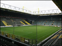 The Signal Iduna Park home of the biggest terrace in Europe