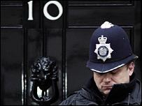 Policeman at Downing Street