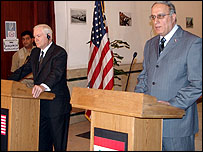 وزيرا الدفاع العراقي والامريكي