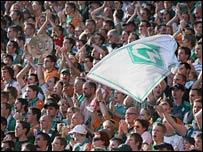 A crowd of 81,000 watched Werder Bremen beat Borussia Dortmund