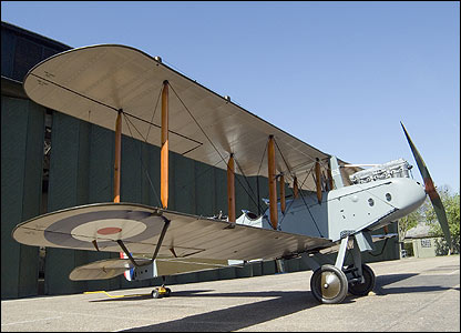 Restored First World War bomber