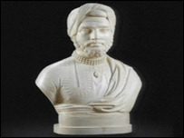 The bust of the Indian Prince and Sikh hero Maharaja Duleep Singh