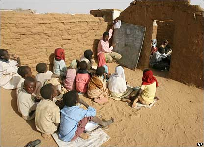 A school class in Sudan