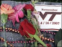 Memorial at Virginia Tech university